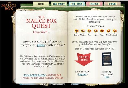 WEBSITE OF THE DAY - maliceboxquest.com