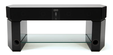 Evesham's Sound Stage X1 incorporates speakers into a TV stand
