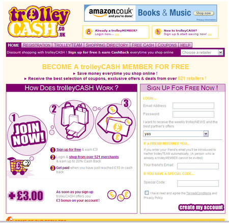 WEBSITE OF THE DAY - trolleycash.co.uk