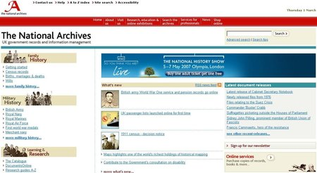 WEBSITE OF THE DAY - nationalarchives.gov.uk