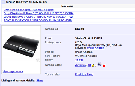 PlayStation 3s going cheap on eBay