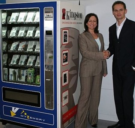 Flash memory vending machine at Gatwick
