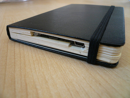 DIY Moleskin Hard drive to store all your digital memories