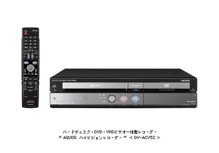 Sharp goes 3-in-1 for video player