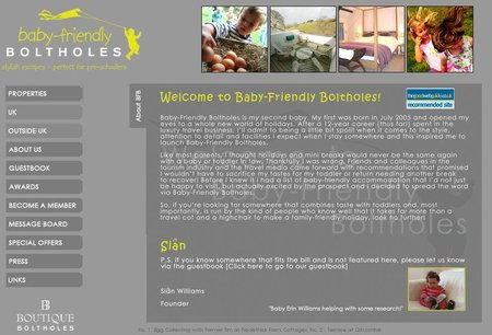 WEBSITE OF THE DAY - babyfriendlyboltholes.co.uk