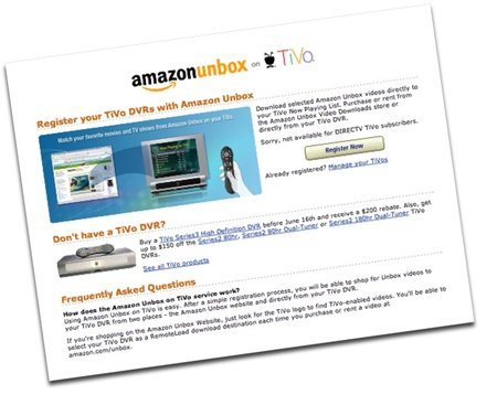 TiVo and Amazon Unbox ditch the PC