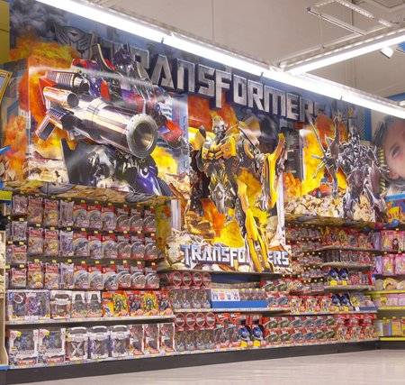 Breaking news! Transformers have taken over Toys R Us!