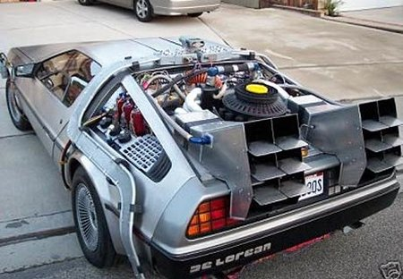 DeLorean comes back to the future