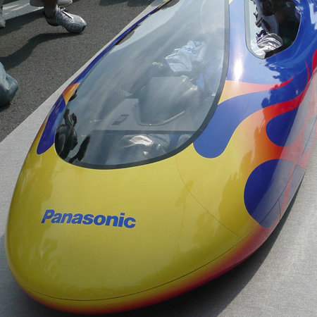Panasonic breaks world speed record for AA battery powered car