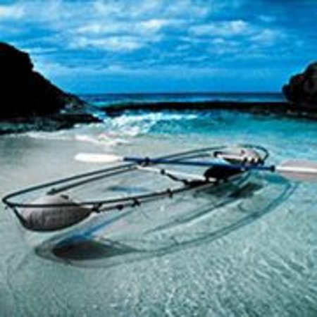 Transparent kayak canoe - it is suddenly all clear