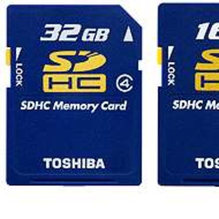 Toshiba announces £350 32GB SDHC memory card