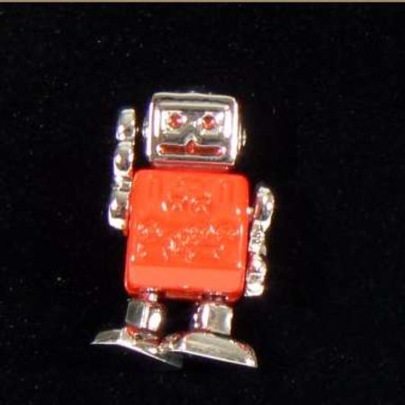 Retro robots cufflinks want to invade your shirt sleeves