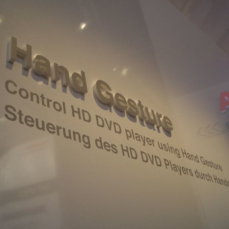 IFA 2007: Toshiba developing gesture recognition for HD DVD