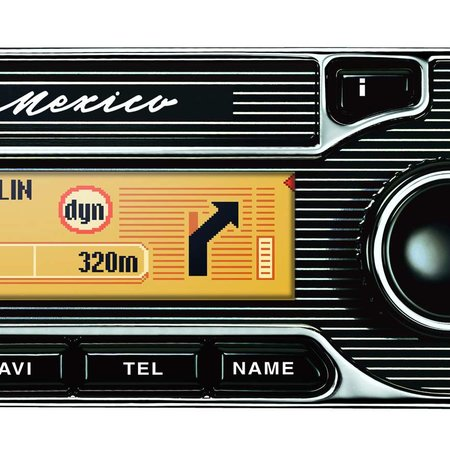 Becker Mexico retro-styled GPS Car Infotainment