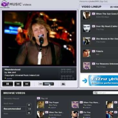 Yahoo Music Video Player gets a new'n'improved relaunch