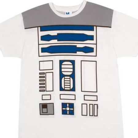 R2D2, Darth Vader and Stormtrooper Star Wars costume t-shirts