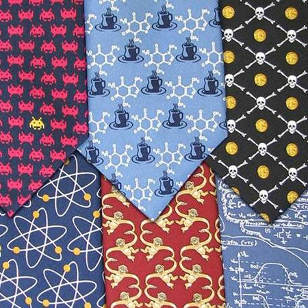 "Geek ""insignia"" ties from ThinkGeek"