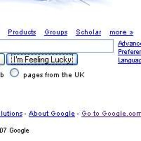 Google says no-one ever feels lucky...