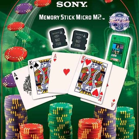 Sony offers special edition Poker-themed memory