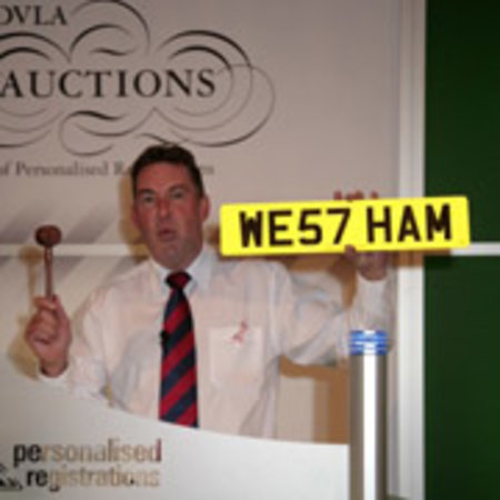 WE57 HAM smashes registration plate record