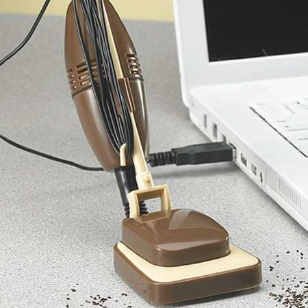 Tiny USB-powered desk vacuum
