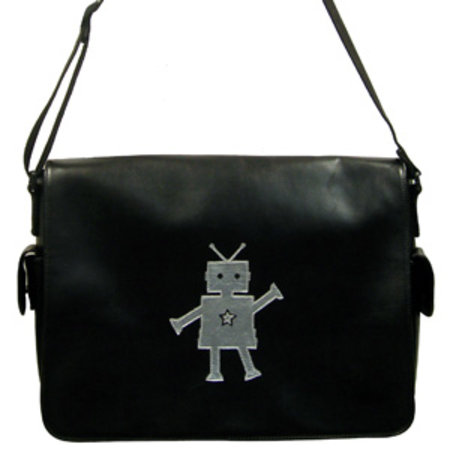 """Happy robot"" bag will make your laptop smile"