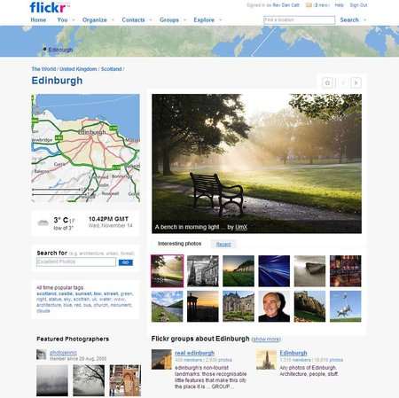 Flickr adds geo-based features
