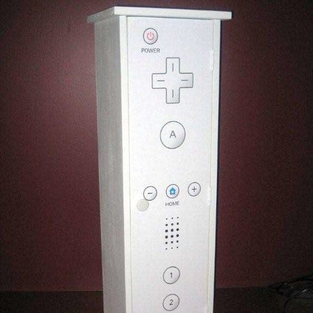 Man builds giant Wiimote cupboard
