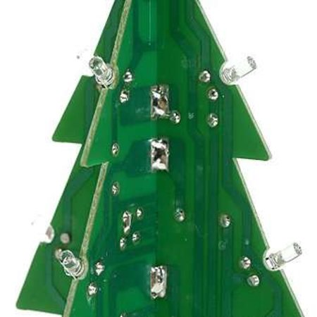 Motherboard Christmas tree with LED lights