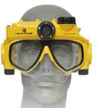 Underwater digital camera mask to launch