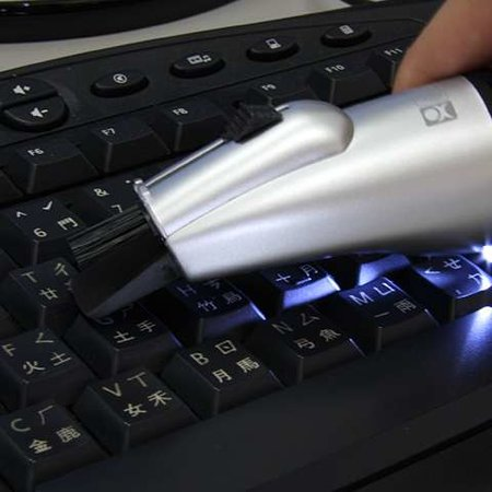 Mini desktop vacuum with LED light launches