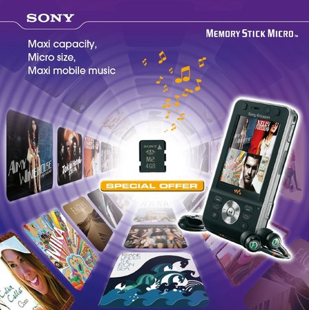 Sony offers free album with Memory Stick Micro cards