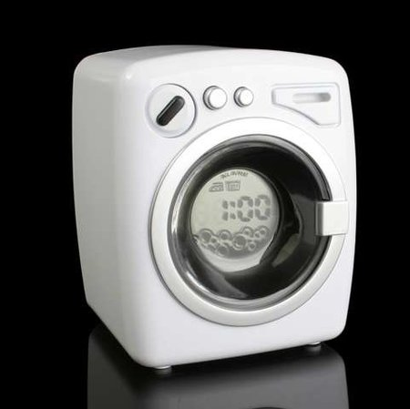 USB washing machine alarm clock launches
