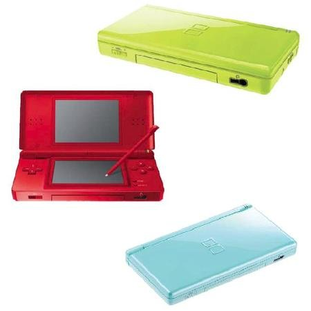 Rainbow of new Nintendo DS Lite colours