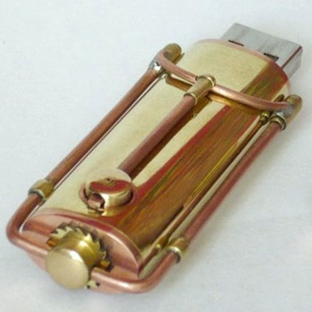 Steampunk USB flash drive spotted