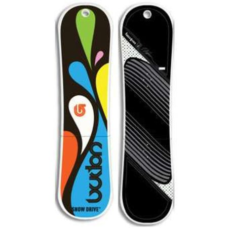 Burton offers snowboard-shaped flash drives