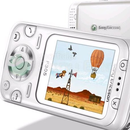 Gaming phone - the Sony Ericsson F305 - mooted for launch