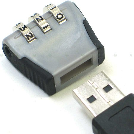 Thanko offers numeric padlock for flash drives  - photo 1