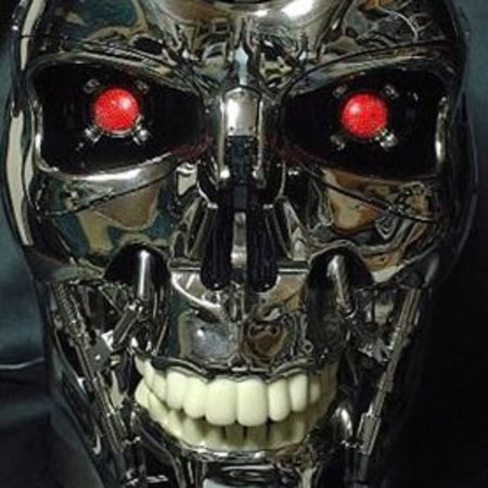 DVD player housed inside Terminator's head