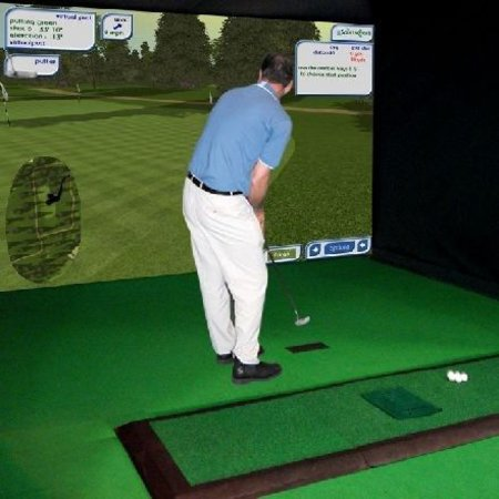 Golfotron simulator for golfers with cash to splash