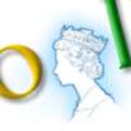 Queen giggles on Google visit