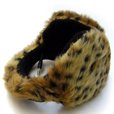 Furry ear muffs boast integrated speakers