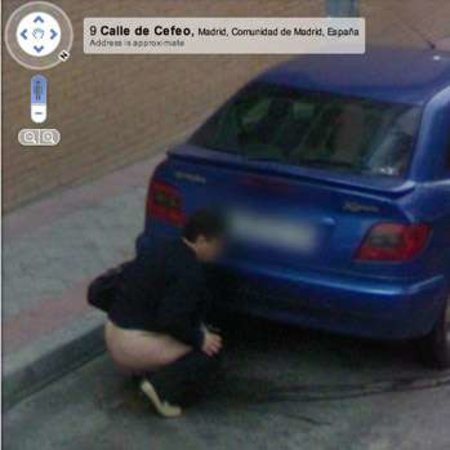Google Street View captures street wee