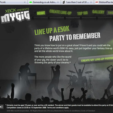 Xbox announces MyGig competition