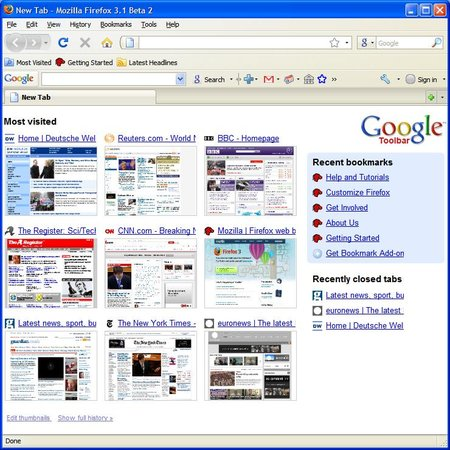 Firefox gets Google Chrome features
