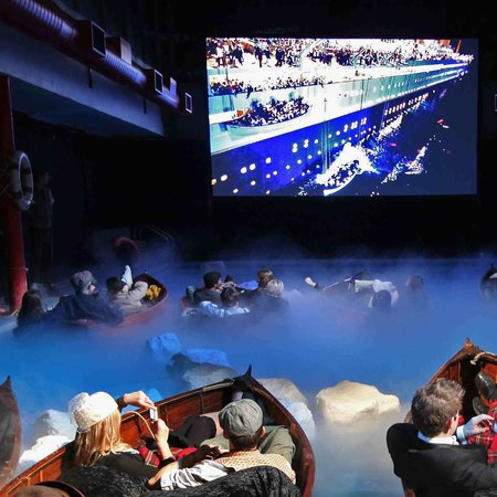 Sky+HD screens Titanic in a London swimming pool