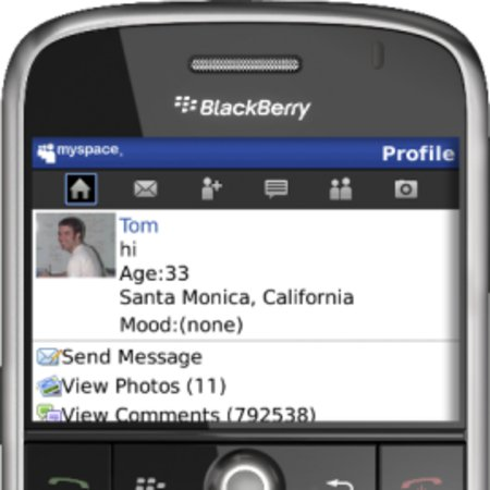 MySpace enhances BlackBerry application