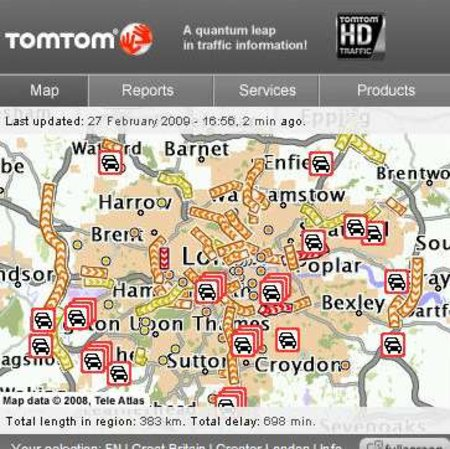 TomTom HD Traffic widget launches