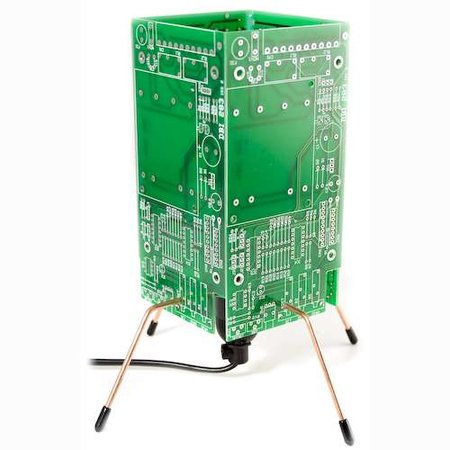 Recycled circuit board lamp available