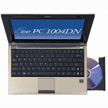 Optical drive equipped Asus Eee 1004DN not for UK